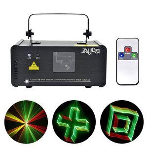 Efeito 3D 8 CH DMX 512 Mini Remoto IR 250 mW RGY Laser DPSS Scanner de Luzes DJ Show LEVOU Projetor Stage Lighting lanterna