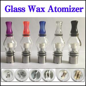 Bulbo stile vetro globo cera atomizzatore singolo doppio ceramico cotone al quarzo bobine secco erba vaporizzatore penna cupola atomizzatore per ego T Evod batteria