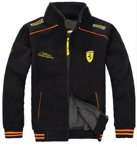 Traje de carrera de F1 Hombre Polar Fleece Jacket Coats Shirt Tops Pegasus Racing traje de hombre Chaquetas