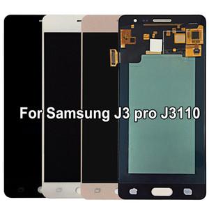 100% Super AMOLED LCD para Samsung Galaxy J3 pro J3109 J3110 J3119 LCD Pantalla táctil digitalizador Reemplazo de ajuste brillante