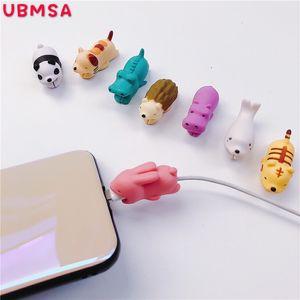 Hot 36styles Cable Bite cable de mordedura de animal Protector Accesorio juguetes mordeduras de cable perro cerdo elefante axolotl para iPhone teléfono inteligente Cable de cargador