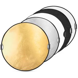 """32 """"80 cm 5in1 Taşınabilir Katlanabilir Stüdyo Fotoğraf ile Katlanabilir Çok Diskli Işık Fotografik Aydınlatma Reflektör Taşıma Çantası"""