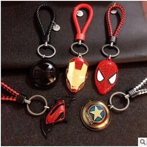 Vingadores Super Heroes Capitão América Logo keychain Estilo Pingente De Metal Chaveiros Chaveiro Anel Chaveiros presentes 538