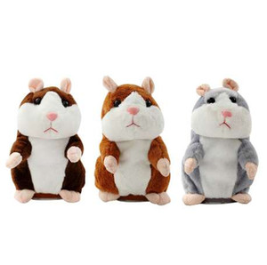 Talking Hamster Mouse Pet Plush Toy Learn To Speak Electric Record Hamster Educational Children Stuffed Toys Gift 16cm