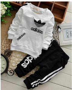 Baby Jungen und Mädchen Anzug Trainingsanzug Kinderkleidung Set Heiße Verkaufs-Mode-Frühlings-Herbst-Kinder Kleider Langarm