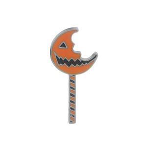Palillo de Halloween Calabaza forma de Luna Esmalte pin Broche Matel Alfombra de regalo Bolsa de Abrigo Decoración joyería Accesorios