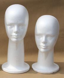 Isopor Manequim Cabeça Chapéu Óculos Colar Peruca Display Stand Feminino Modelo Cabeça Masculina Longo Pescoço Dois tamanho