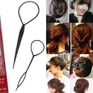 Магия большой маленький хвост волосы коса конский хвост стайлинг инструмент для волос-плетение инструмент оплетки конский хвост пластиковая петля черный клип шпильки