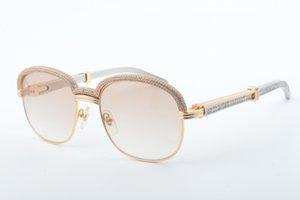 Новые высококачественные полнокадровые алмазные солнцезащитные очки, модная атмосфера высокого класса, градуированные металлические алмазные зеркало объектива солнцезащитные очки 1116728-A