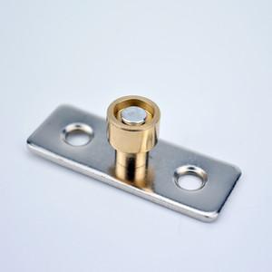 6 pic puerta de madera rollo de puerta corredera localizador de cojinetes polea colgante tapón director eje de montaje de hardware Eje de Guía de Amortiguador