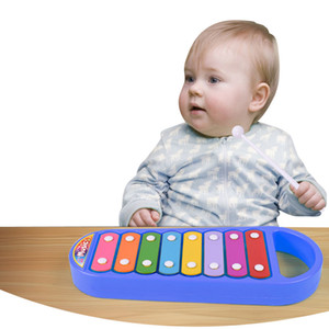 New Children Piano Musical Toys Pull Octave Hand Knock Piano Educational Toy Gift Baby Kid Toy Musical Instrument