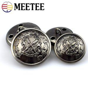50pcs cuivre épées manteau en cuir chandail boucle double couleur ancienne bouton de couture en métal argenté B3-14