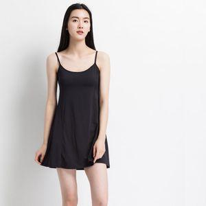 Hopeforth New Women's Condole Belt Skirt Bra Cup Chaleco de algodón pijama vestido de media longitud camisón Sexy ropa interior Sexy falda