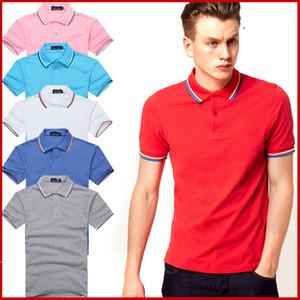 Ventes Célèbre Hommes d'affaires short Polo manches chemises populaire coton broderie blé Polos personnalisés design en robe Fred chemises 235 #