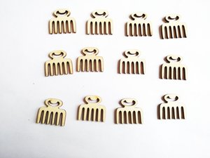 Free shipping, 100pcs  lot new arrival wood bead natural comb no hole bead stude can DIY Accessories