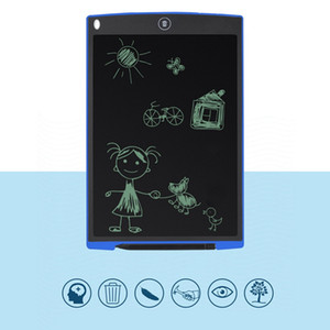 12 بوصة الكمبيوتر اللوحي المحمولة البسيطة LCD شاشة الكتابة لوحة رسم لوحة + قلم رسومات القلم للأطفال