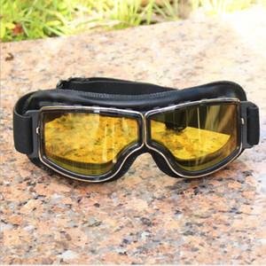 Ucuz Halley Motosiklet Gözlük bisiklet Gözlük Yarım Yüz Kask Gözlük Retro Jet Açık Yüz Kask Gözlük savaş oyunu açık güneş gözlüğü
