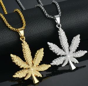 Altın Zincirler Erkekler Için Hip Hop Takı Maple Leaf Kolye Uzun Altın Zincirler Hip Hop Bling Kolye Mujer Buzlu Out Zinciri