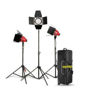 Pro Red Head عكس الضوء المستمر 800w * 3 KIT bag + light light + bulb for studiovideo 3200k