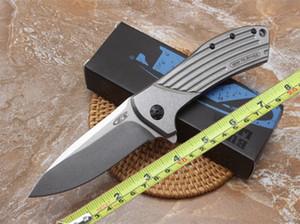 Нулевой допуск 0801 складной нож D2 лезвие все стальной конструкции подшипника карманный нож