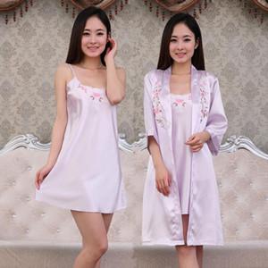 2016 mujeres de la llegada del verano ropa de dormir más camisón de seda viscosa busto vestido de maternidad