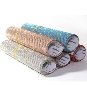 Bling Bling Automotive Interior Stickers Cristalli di vetro Decorazione fai-da-te Adesivo per auto Tastiera portatile Pulsanti Home Styling