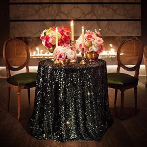 2021 Tischdecke Tischdecke Runde für Hochzeit Dekoration Tabellen Pailletten Tisch Kleidung Hochzeit Tischdecke Heimtextilien nach Maß