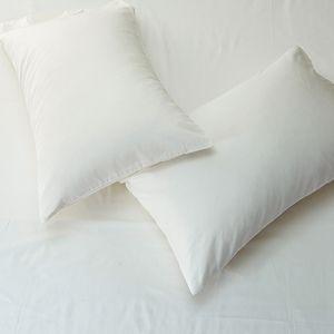 Tutubird - Taie d'oreiller en coton égyptien solide et de luxe blanc, bleu, bleu, long coton de base, taie d'oreiller, couvre-oreiller, 1 pièce