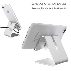 Universal Aluminum Alloy Metal Mobile Phone Tablet Desk Holder Stand for iPhone 7 7 plus 8 Samsung S7 S8 Smartphone and Tablets