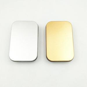 Жестяная коробка пустой серебряный / золотой металлический ящик для хранения чехол организатор для денег монеты конфеты ключи U диск наушники подарочная коробка популярные