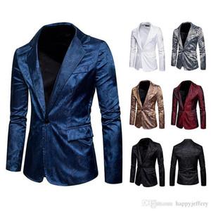 2018 Mens Blazer Jacket Men Suit Floral Casual Male Blazer New Arrival Fashion Men's Blazer Slim Fit Men Brand X04
