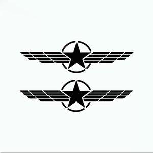 Un par de banda creadora de hermanos retrovisores del coche del vinilo del coche del espejo etiqueta de dibujos animados etiqueta CA-0075