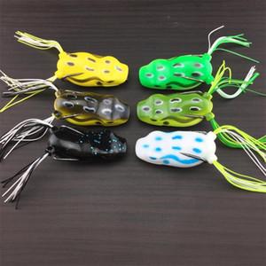 Моделирование Рэй лягушка топ плавание мягкие резиновые Blackfish рыбалка приманки 5 см плавающей отсадки воблер Bullfrog угорь приманки крюк