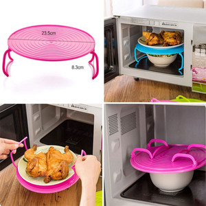 Microwave Steam Rack Plastic Layered Dish Tray Anti Scald Multipurpose Insulated Steaming Racks Bowls Shelving Layered tray HH7-801