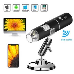 واي فاي USB مجهر ، المدمج في واي فاي كاميرا رقمية المجهر الرقمي مع 1080P HD 2MP 50X إلى 1000X منظار التكبير