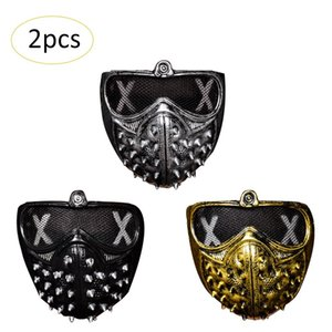 Halloween Punk Devil COS Anime Stage Mask Ghost Steps Street Rivet Maschere di morte Watch Dogs Cosplay Stage Party Maschere