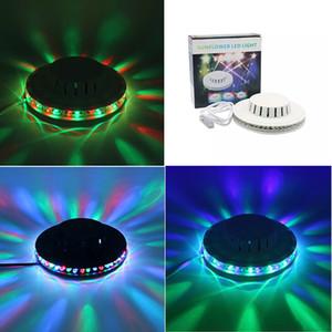 Siyah beyaz Ayçiçeği LED Işık Sihirli 7 Renkler 48 LEDs için otomatik Sesle Aktive LED RGB Sahne Işık Disko Sahne noel ışıkları