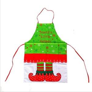 Adulte Enfants Taille De Noël Imprimé Elf Tablier Santa's Little Helper Lettre Imprimé De Noël Décoration Accessoires Drop Shipping