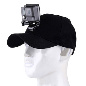 Sport Camera Gopro Accessori Cappello da baseball Canvas Cappello da baseball W / J-Hook Fibbia a fibbia Vite per Gopro Hero5 Hero4 Session