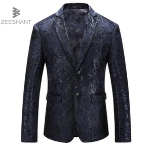 Zeeshant Hommes Slim Fit Costume Veste Blazer Revers Business Marié De Mariage Loisir Dernier Manteau Pantalon Designs Plus La Taille M-5XL