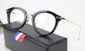 Nuevo Marco de gafas ópticas tb011 46-21-150mm Plank Gafas de sol redondas Marco Gafas tb-011 Mujeres Hombres Gafas Marcos de miopía con caja original
