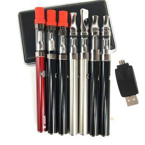 Liberdade V1 V5 V9 caneta descartável vape grosso cartucho de óleo Fino E Cigarro starter kit 380 mAh bateria de pré-aqueça esmart carregador USB Sem Fio