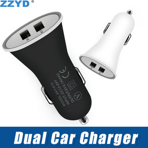 ZZYD Dual USB Car Charger Adaptateur 2 Ports Portable 1A Pour Samsung S8 Note 8 iP 7 8 X
