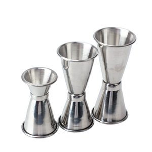 3 PCS Cocktail Mixer Measuring Cup Jigger Measure Set Stainless Steel Kitchen Tool Barware Tools Bartender