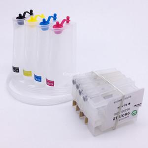 Pour système d'encre CISS vide HP932 HP933 avec puce Pour imprimante à jet d'encre HP Officejet 6100 6600 6700 7110 7612 7610 7510