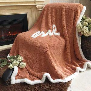 Spring 100% polyester lamb cashmere blanket sheets Korean thick rectangular adult soft sheep blanket MT430