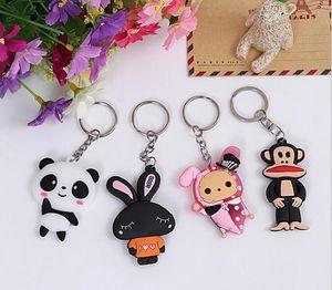 Panda Rabbit Monkey Superman Erdbeere Keychain Schlüsselanhänger Auto Motorrad Schlüsselanhänger Schlüsselanhänger Anhänger Charm Schmuck
