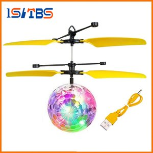 تحلق طائرات الهليكوبتر RC الكرة الطائرة بقيادة ضوء وامض حتى لعبة التعريفي لعبة كهربائية RC الطائرة بدون طيار ألعاب للمراهقين الأطفال
