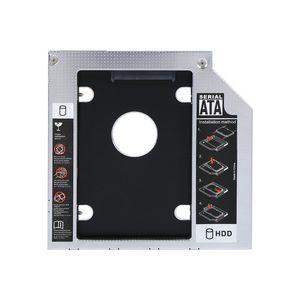 9.5mm Aluminium SATA HDD SSD Boîtier Disque Dur Baie Caddy Optique DVD Adaptateur pour Ordinateur Portable avec Paquet Au Détail Livraison Gratuite