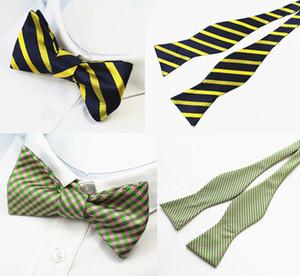 37 colores para hombre Self Bow lazos 100% seda Brand New Luxury plain Tie Bowtie Butterflies Noeud Papillon boda para negocios Multi-colores